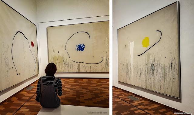 """""""A esperança de um condenado à morte"""", tríptico de Joan Miró"""