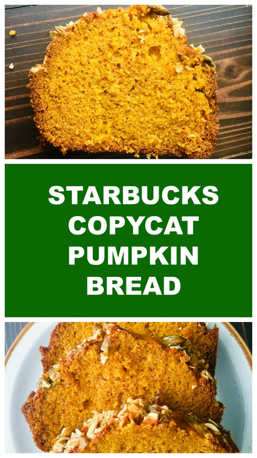Moist pumpkin bread with just the right amount of spice just like Starbucks'!