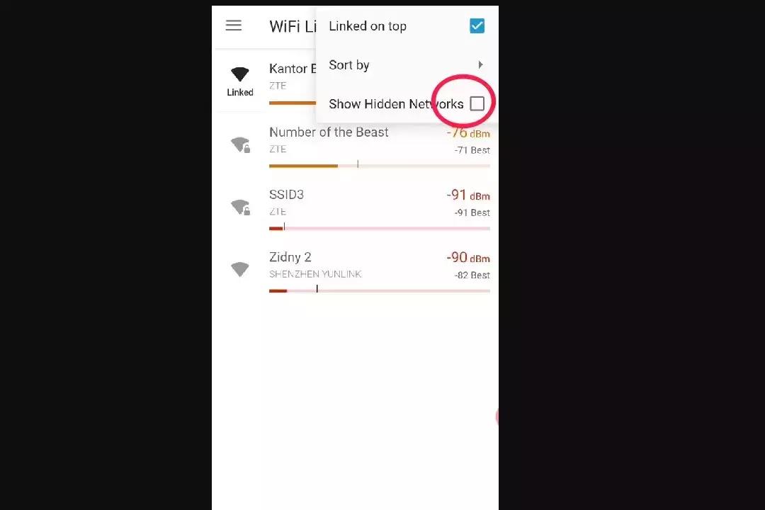 wifiman show hidden network