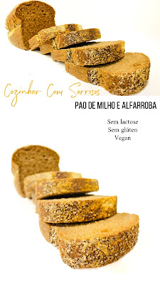 Pão de milho e alfarroba