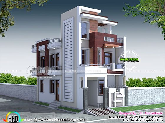 20x40 contemporary Indian home design
