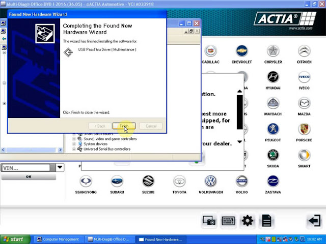 USB-pilote-passthru-installation-complète