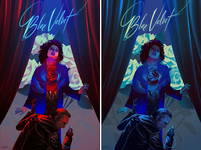 Blue Velvet Movie Poster Screen Print by Kevin Tong x Mad Duck Posters