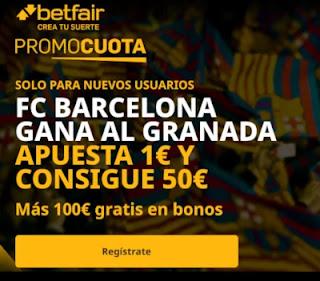 betfair promocuota Barcelona gana Granada 9 enero 2021