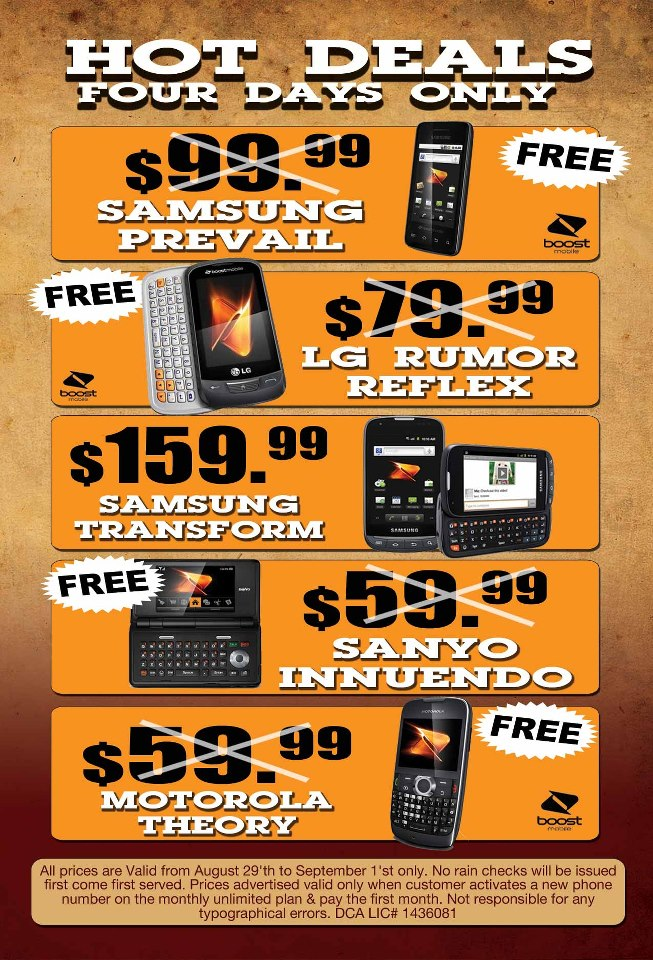 Free Boost Mobile Android or BlackBerry With New Activation
