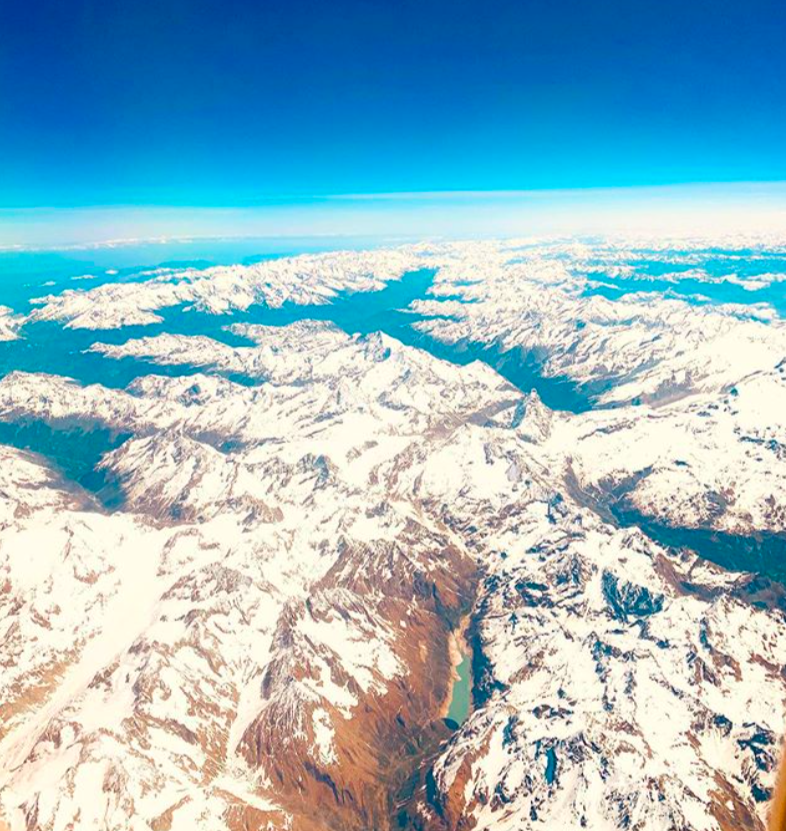 View plane Swiss Alps