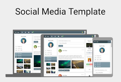 Free Social Media Template By W3