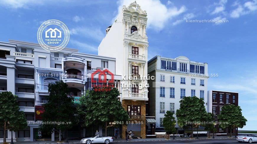 Động lòng trước thiết kế nhà phố 7x12m kiến trúc tân cổ điển - Mã số NP1521 - Ảnh 1