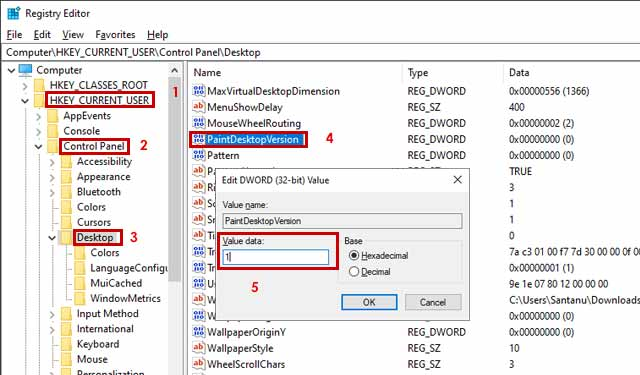 Registry Editor Cara Menghilangkan Activate Windows 10