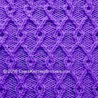 Interlocking Lattice Cable Knitting Stitches