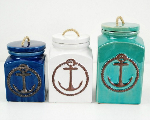 Nautical Anchor Canisters