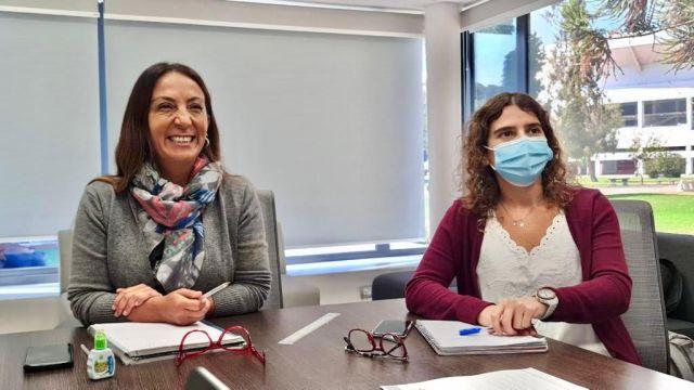 Cecilia Pérez y  Sofía Rengifo.