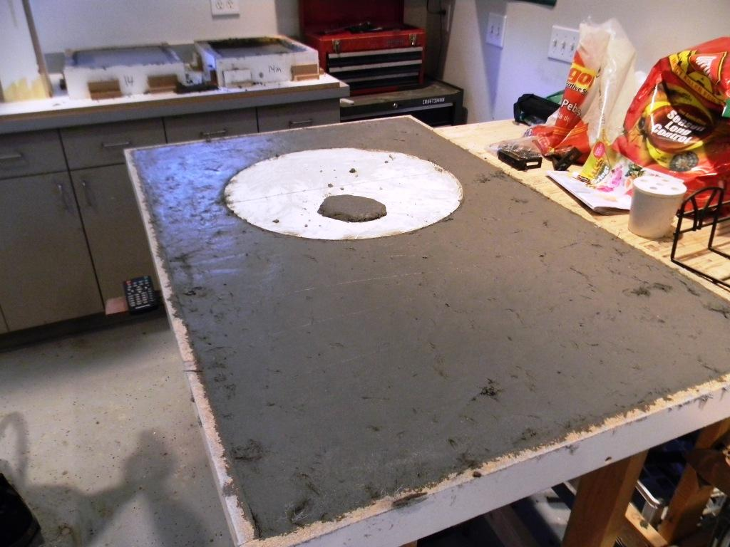 Creating Concrete Countertops Concrete Grill Countertop Pour