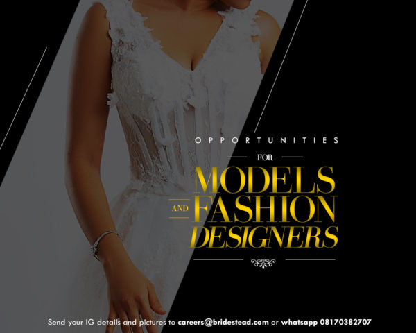 Female models, fashion designers and actors are needed for various advert campaigns in Lagos State.