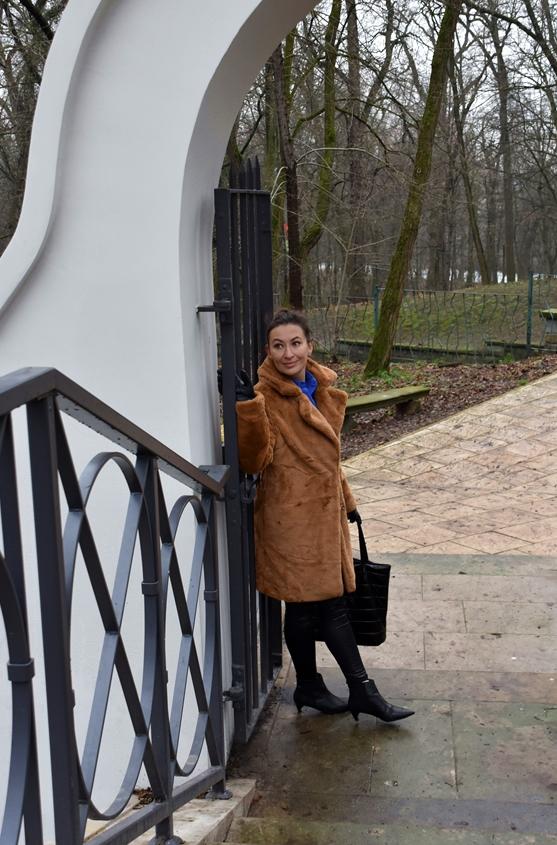 www.adriana-style.com, @adrianastyle_stylist, Futro Bonprix, Bonprix Faux Fur, Beige Fur Coat, Bonprix Leather Look Leggings, leginsy Bonprix, Botki Faith, Faith Low Heel Boots