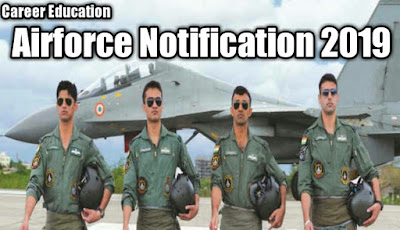 Indian airforce notification 2019
