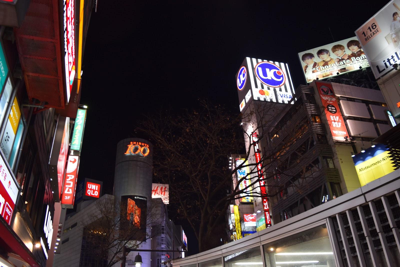 Shibuya 109 at night