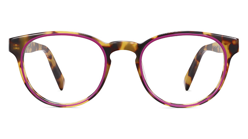 Warby Parker Percey Glasses in Cider Tortoise with Fuchsia