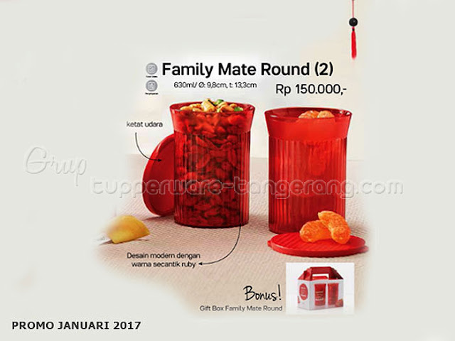 Family Mate Round Promo Tupperware Januari 2017