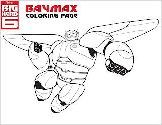 Ausmalbilder von Baymax Disney Big Hero 6