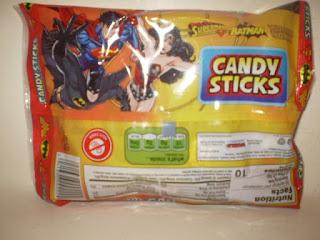 Back of DC Trinity Candysticks bag