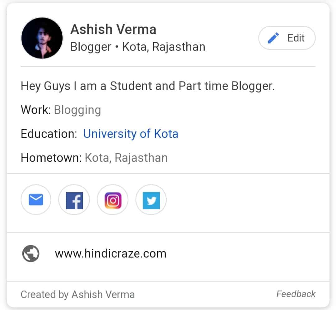 Google People Cards - hindicraze