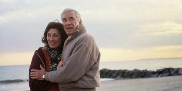 Martin Landau and Angelica Huston in Crimes and Misdemeanors