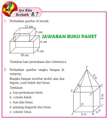 Kunci Jawaban Buku Paket Matematika Kelas 8 Ayo Kita Berlatih 8.7 Halaman 200 201 202 www.jawabanbukupaket.com