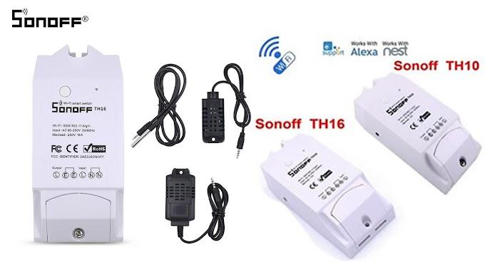 Sonoff TH10 และ TH16 สวิตซ์เปิดปิด Wi-Fi พร้อมช่องเสียบเซ็นเซอร์วัดอุณหภูมิ