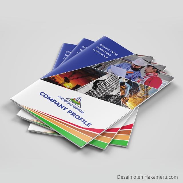 Desain cover sampul company profile perusahaan general trade, engineering, dan contractor