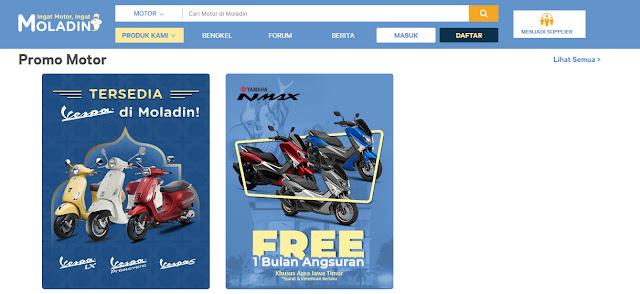 Inilah Kelebihan dan Cara Membeli Motor Online di Moladin