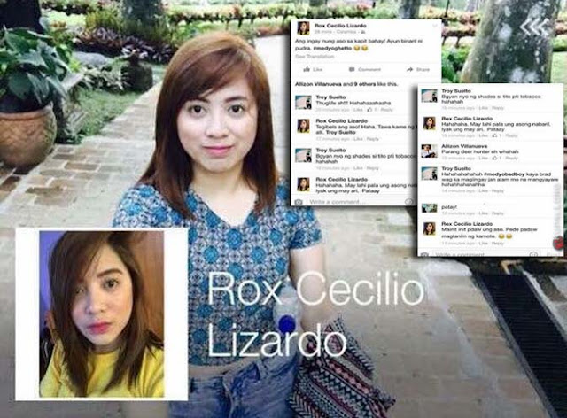 Rox Cecilio Lizardo Proudly told everyone about her Dad's wrongdoings