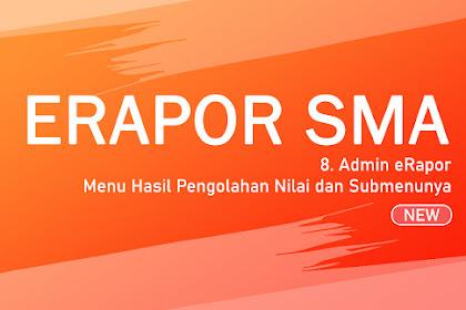 Langkah #8 Admin eRapor - Menu Hasil Pengolahan Nilai