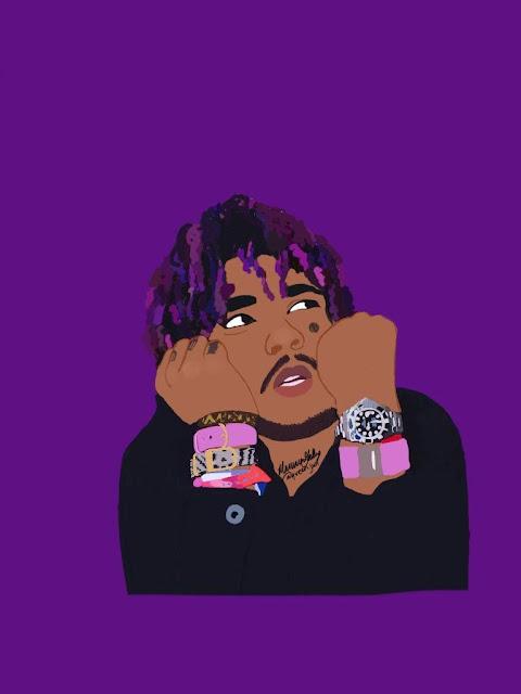 purple aesthetic wallpaper rapper