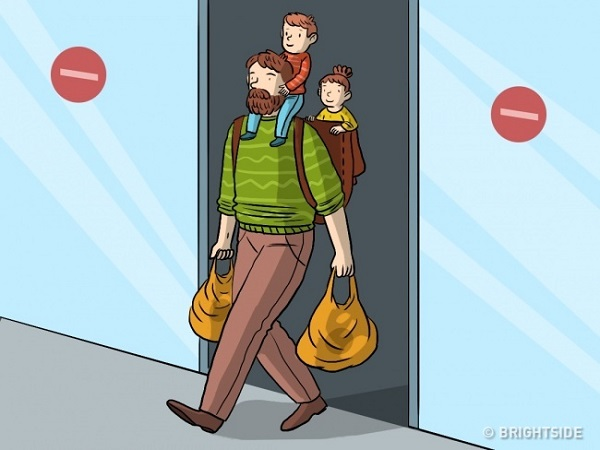 ilustrasi ayah dan anak