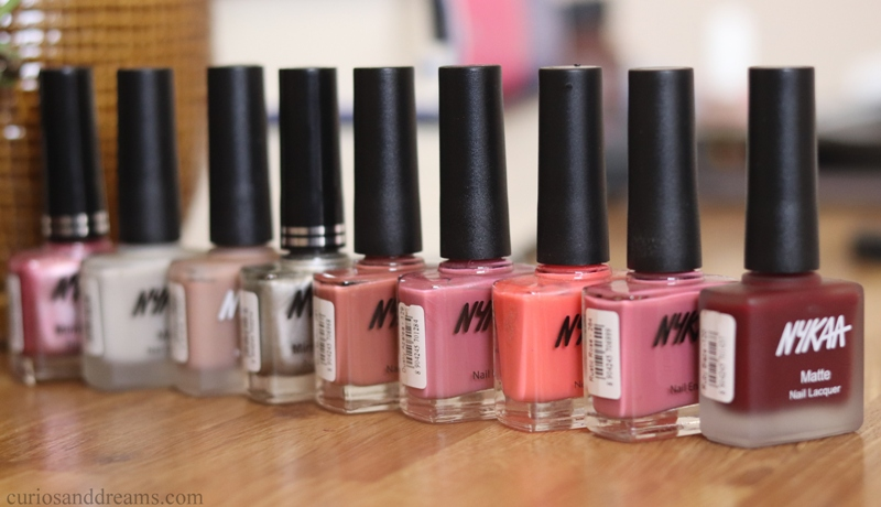 All Nykaa nailpolishes review and swatches