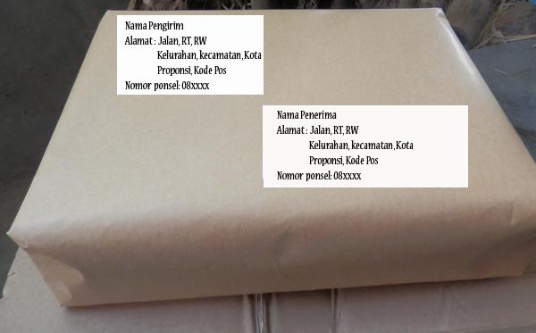 format penulisan alamat penerima pengirim