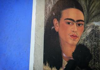Self-portrait of Frida Kahlo at La Casa Azul