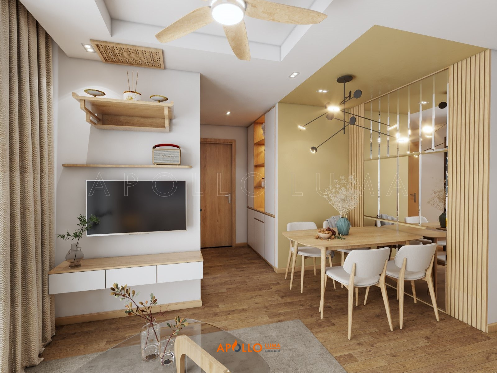 Thiết kế nội thất căn hộ 2 phòng ngủ Vinhomes Green Bay