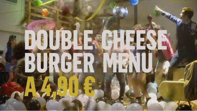 Canzone pubblicità McDonald's Double Cheeseburger Menù