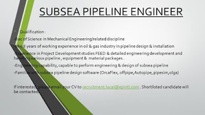Subsea pipeline engineer jobs
