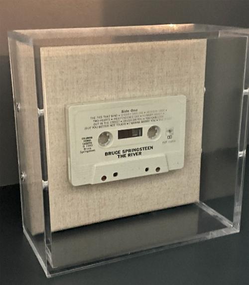 Minnie and Emma vintage cassette shadow box