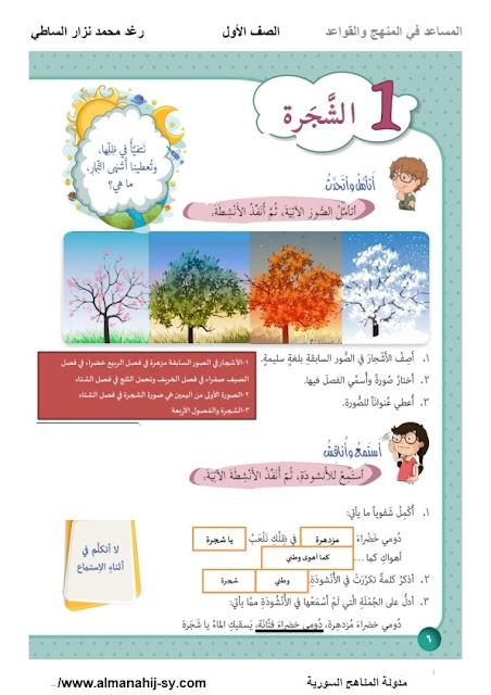 شرح درس الشجرة في اللغة العربية للصف الاول الفصل الثاني