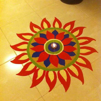 Very Easy Rangoli Design images for New Year