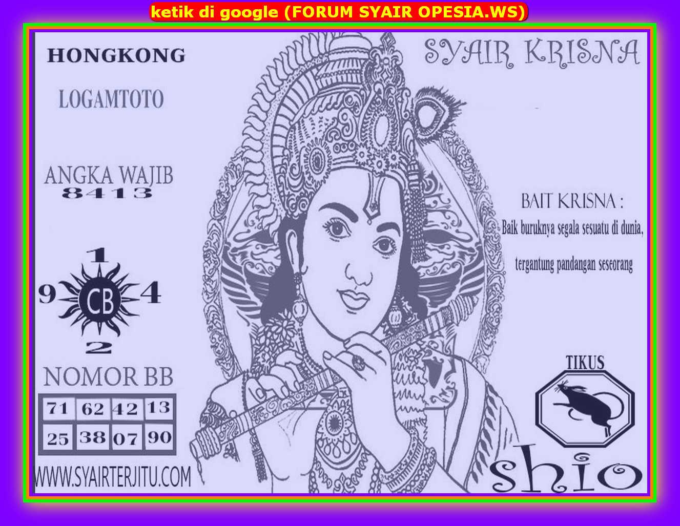 Kode syair Hongkong Jumat 14 Februari 2020 115