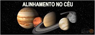 alinhamento raro de 5 planetas - visivel no céu