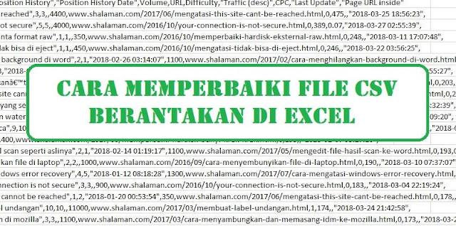 Cara Memperbaiki File CSV Berantakan di Excel