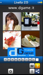Trova la Parola - Foto Quiz con 4 Immagini e 1 Parola pacchetto 1 soluzione livello 25