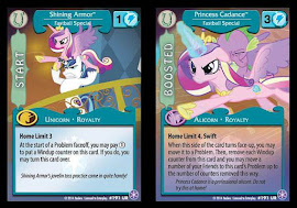 My Little Pony Shining Armor/Princess Cadance, Fastball Special The Crystal Games CCG Card