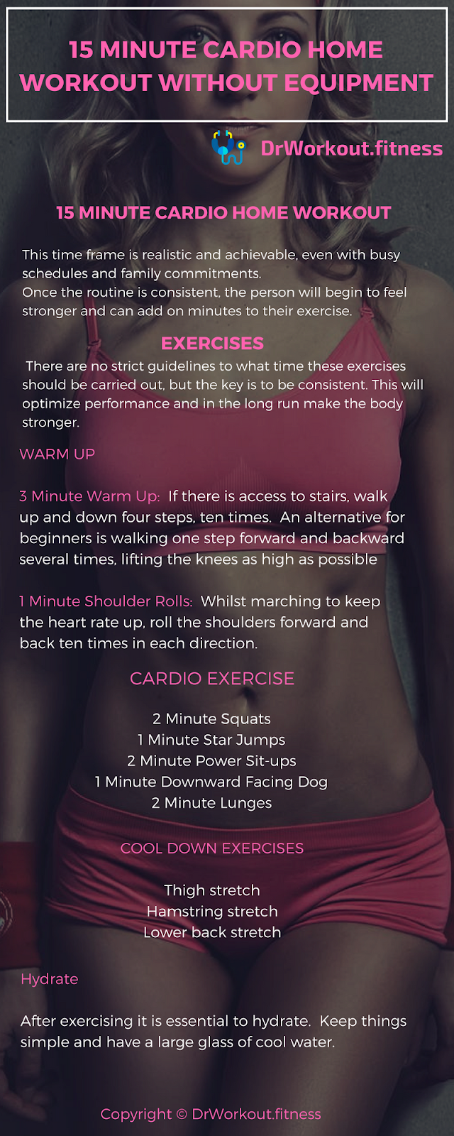 15 minute cardio home workout without equipment